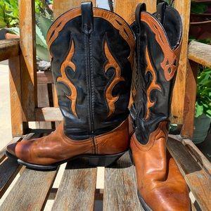 DINGO Womens Western Cowboy Boots 8M Brown Black